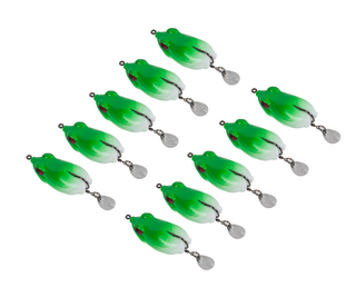 Green Hollow Body Frog Lure Cebo de pesca Aparejos de pesca